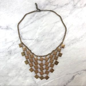 H&M gold statement necklace